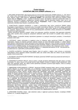 Licenčné podmienky použitia obrázkov České kliparty