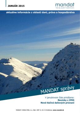 MANDAT správy Január 2015