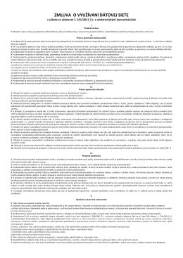 Zmluva - DS Network