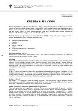 KRESBA A JEJ VÝVIN - CPPPaP Košice