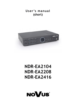 NDR-HA4208 NDR-HA4416 User`s manual (short form)
