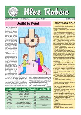 Obecné noviny 1/2014