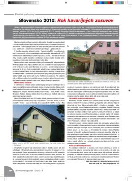 Slovensko 2010: Rok havarijných zosuvov