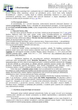 ELM Pôvod metrológie - Seminár Sl. metrol. spoločnosti