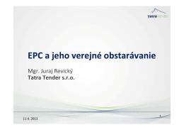 EPC a jeho verejné obstarávanie