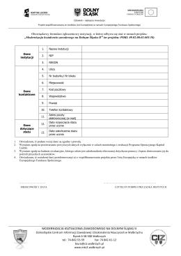 Formularz zamówienia na catering Imię i nazwisko Zamawiającego