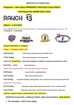 info pre naštevnikov ProRodeo 7 -8 6 2014 korektúra