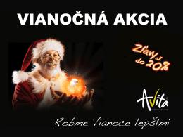 VIANOČNÁ AKCIA - Avita International