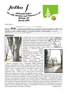 ježko_2_201112 - ZŠ s MŠ Diviaky nad Nitricou