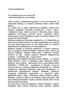 Vážení spoluobčania - oficiálna stránka obce Veľký Ďur