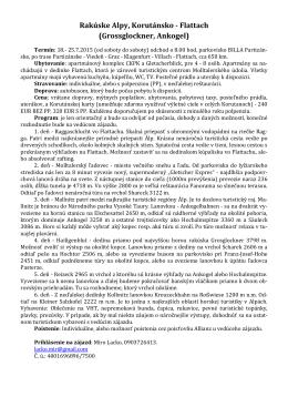 Ponuka od CK Mirotravel