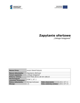 Karta Katalogowa - APATOR CONTROL Sp. z oo