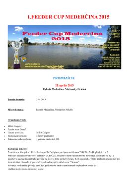 1.feeder cup mederčina 2015 propozície