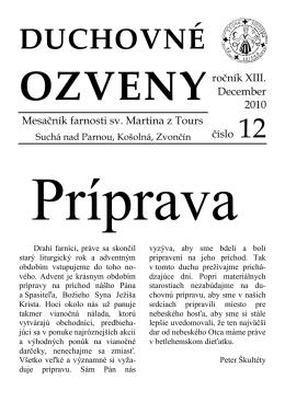 December 2010 - Farnosť Suchá nad Parnou