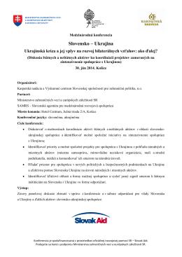 Slovensko – Ukrajina