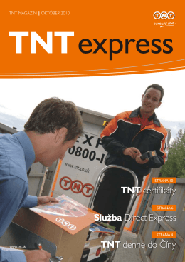 TNT certifikáty Služba Direct Express TNT denne do Číny TNT