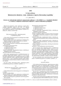 č. 233/2011