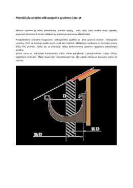 Montážny návod odkvapov /pdf