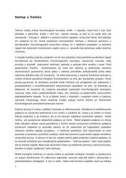 Novinka_Startup a franšíza_21.01.2015