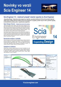 Novinky vo verzii Scia Engineer 14