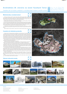 Architektúra 20. storočia na území Vysokých Tatier: