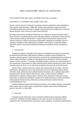 Zápis z rokovania 19.11.2011