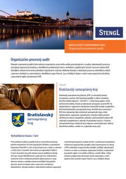 Bratislavský samosprávny kraj Organizačno-procesný audit