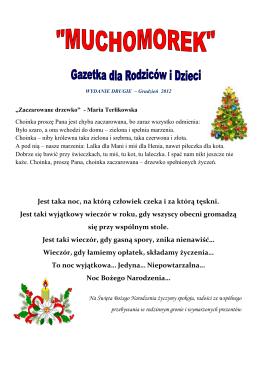 Gazetka Muchomorek – Grudzień 2012