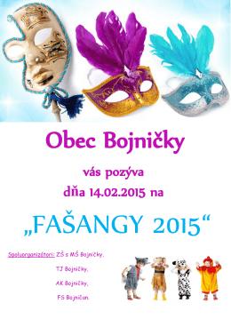 """FAŠANGY 2015"""