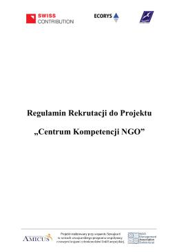 Regulamin CK NGO(pdf) - Centrum Kompetencji NGO
