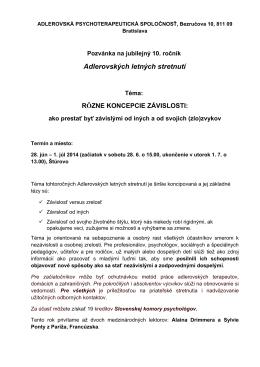 pozvánku - adleriantherapy.sk