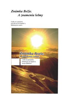 Livro a marca de Deus em Eslovaco