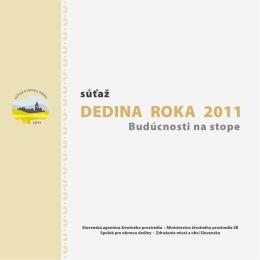Brožúra: Súťaž Dedina roka 2011