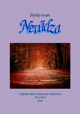 Školský časopis Nevädza, ročník 2013-2014, č. 1