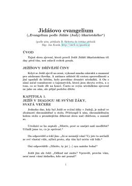 Jidášovo evangelium - Bibliotheca Gnostica