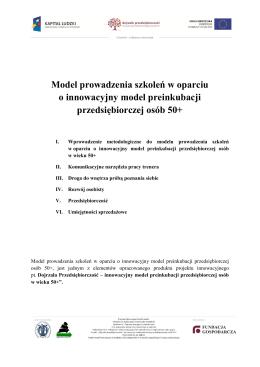 Model prowadzenia szkoleń w oparciu o innowacyjny model