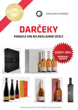 Akčnú ponuku vín TOKAJ MACIK WINERY nájdete TU!
