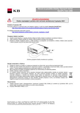 Návod na použitie čítačky čipových kariet GemPC