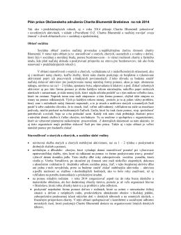 Plán práce - Charitablumental.sk