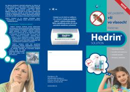 Stiahnuť Informačný leták Hedrin (slovenský jazyk)