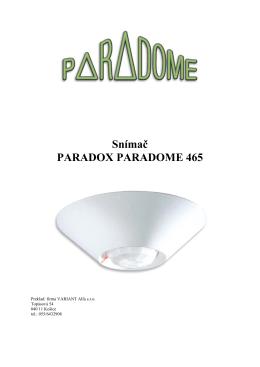 Snímač PARADOX PARADOME 465