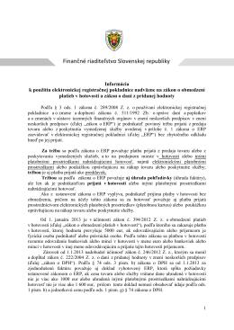 Finančné riaditeľstvo Slovenskej republiky - V-Soft