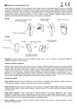 SK Bezdrôtový zvonček SOLIGHT 1L38 Vážený - SOLIGHT E-shop