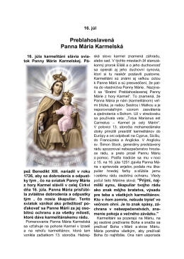 Panna Mária Karmelská