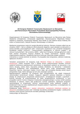 III Kongres Polskich Towarzystw Naukowych na