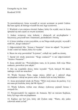 Rozdzial 18 Ewangelia wg sw Jana