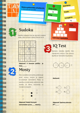Sudoku Mosty IQ Test
