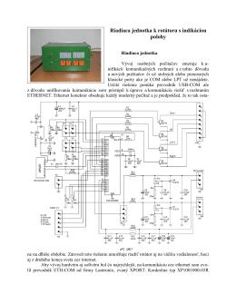 Interfejs k rotátoru cez ethernet - inovovaná verzia