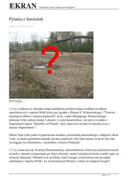 Pytania o Smoleńsk