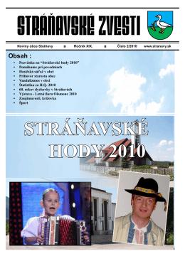 Zvesti 2/2010 - Obec Stráňavy